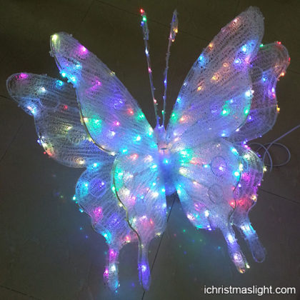 Color changing outdoor decor LED butterfly