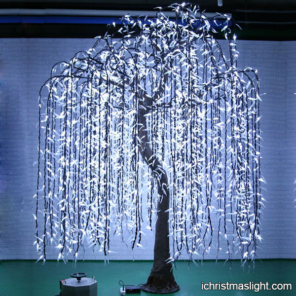 Indoor Outdoor White Willow Tree Led Lights Ichristmaslight