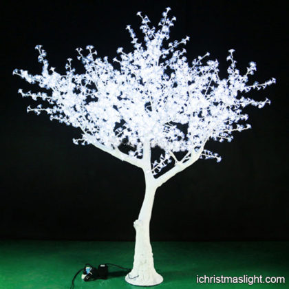 Artificial white cherry tree with LED lights