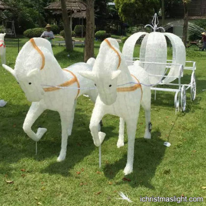 Christmas LED Cinderella horse and carriage