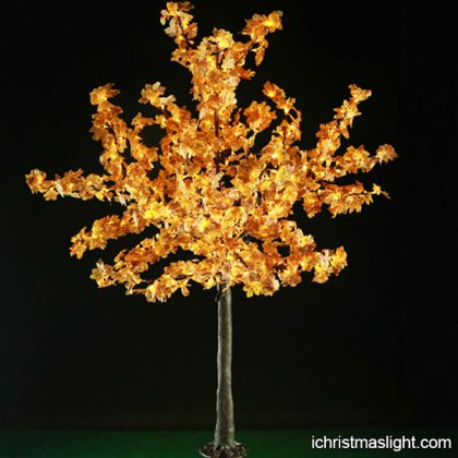 Decorative artificial LED maple trees