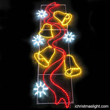 Outdoor light pole Christmas decorations