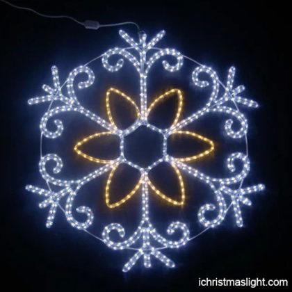 Yard decorative snowflake Christmas lights
